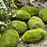 New 3PCs/Set Green Artificial Moss Stones Grass Bryophytes Home Garden Bonsai Decoration for Garden Path