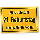 DankeDir! 21. Geburtstag Stadtschild - Kunststoff Schild, Geschenk 21. Geburtstag, Geschenkidee Geburtstagsgeschenk Einundzwanzigsten, Geburtstagsdeko/Partydeko / Party Zubehör/Geburtstagskarte