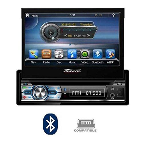 TAKARA GPV1827BT Autoradio 2DIN DVD GPS USB Bluetooth 7'
