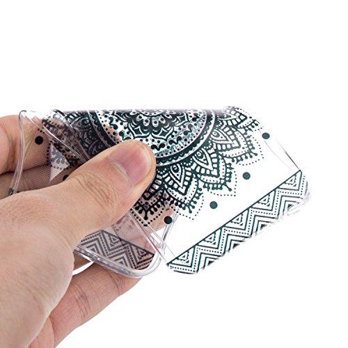 Voguecase® Per Apple iPhone 6/6s 4.7, Custodia Silicone Morbido Flessibile TPU Custodia Case Cover Protettivo Skin Caso (Macaron ragazza) Con Stilo Penna cavo cerchio 01 / nero