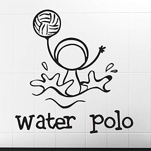 yiyiyaya Un des Sports Water Polo Funny Image Stickers Muraux Étanche Vinyle Decal Enfants Chambre Creative Décor Stickers Murale Rouge 72x70 cm