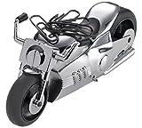 Troika Chopper Style Motorbike Desk Tidy Accessoire de Bureau multi-fonctions en forme de Moto Chopper avec Presse-papier et Aimant et et Moteur à Friction