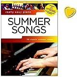 Really Easy Piano - Summer Songs - 20 hit summer songs - Songbook für Klavier mit Online Audio und bunter herzförmiger Notenklammer