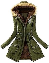 Mujer Invierno Abrigo Parkas Militar con Capucha Chaqueta de Acolchado  Anorak Jacket Outwear Coats bb8f0cb5ae59