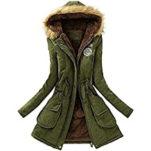 862a8e92d Mujer Invierno Abrigo Parkas Militar con Capucha Chaqueta de Acolchado  Anorak Jacket Outwear Coats