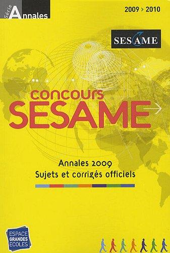 Concours Sésame : Annales, Sujets et corrigés officiels