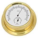 Fischer Thermo-Hygrometer, Messing, 125 x 100 mm