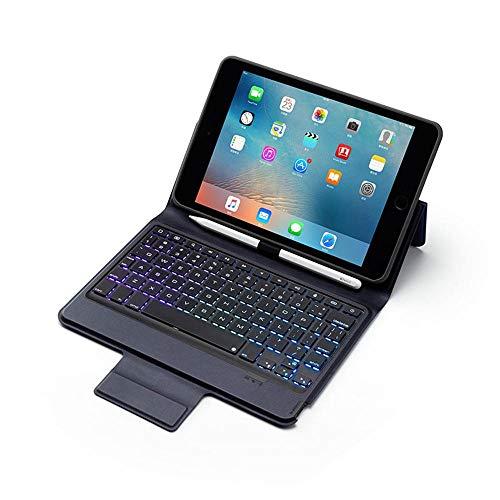 Volwco Tastatur Hülle 7.9 Zoll Für IPad Mini 5 2019 (5th Gen) / IPad Mini 4 2015, Stifthalter Und DIY Hintergrundbeleuchtung, Premium Leder Wireless Bluetooth Tastatur Smart Schutzhülle (Ipad Keyboard Mini Three)