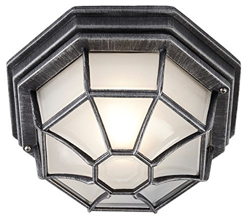 hexagonal-black-silver-flush-ceiling-porch-light-with-frosted-glass-diffuser-by-haysom-interiors