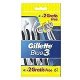 Gillette Blue3 Einwegrasierer 4+2 Stück Gratis, 5er Pack (5 x 6 Stück)