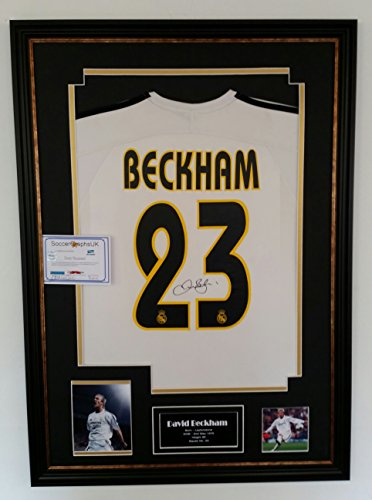 David-Beckham-of-Real-Madrid-Signed-Shirt-AFTAL-DEALER-CERTIFICATE-OF-AUTHENTICITY
