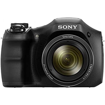 Sony Cyber-shot DSC-H100/BC 16.1MP Point and Shoot Camera (Black) with 21x Optical Zoom, Camera Case