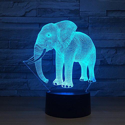 3D elefanten Nachtlampe 7 Farben ändern Touch Control LED Schreibtisch Tisch Nachtlicht mit bunten USB Powered für Kinder Kinder Familie Ferienhaus Dekoration Valentinstag Geschenk