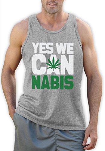 Yes we Cannabis Trägerhemd Tank Top Grau