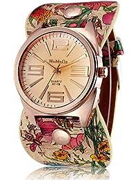 ufengke® estilo pastoral única de oro rosa de las flores vestido de la correa de marcación regalo reloj de pulsera para damas niñas,c
