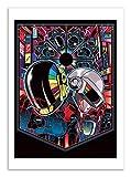 Affiche - Art - 50 x 70 cm - Daft Punk Legacy Inspiration - by Samuel Ho