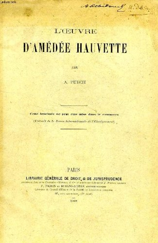 L'OEUVRE D'AMEDEE HAUVETTE