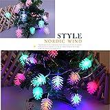 TianranRT Gefärbt LED Schnur Licht Dekorativ StäNdig Hell GlüHend Lampe für Weihnachten Geschenk Farbiges Dekorative Konstante Helle Glühende 2.5M, 20LED