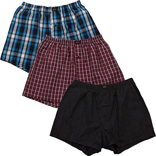 3er Pack Web-Boxer Shorts für Herren auch in Übergröße Nr. 436 ( 9 (XXXL) ) - 2