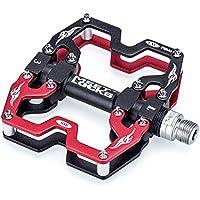 """Meetlocks Bicicleta de pedales, cuerpo de aluminio CNC, Cr-Mo a máquina CNC 9/16 """"Rosca de husillo de tornillo, Ultra DUAL / rodamiento sellado."""
