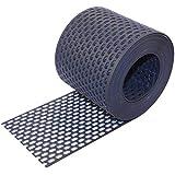 Traufgitter PVC schwarz anthrazit 80 mm / 5 m Rolle