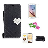 JGNTJLS Samsung Galaxy J5(2017)/J530 Case, [New Original Style] [with Free Tempered Glass Screen Protector] LOVE, Cute, Fashionable, Stylish, Cross-Embossing(Contrast-Colorful, Wrinkle-Design), Fax Leather-Shell(Artificial, Silky Touch Fully), Photos Fram