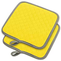 elfrhino silicona resistente al calor versátil Pot Holder caliente Mats Pads guantes de horno guantes resistente al agua antideslizante alfombrillas de cocina para cocinar manoplas de parrilla conjunto de 2