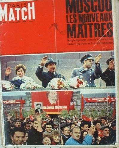 Paris match, n° 812, 31 octobre 1964 : moscou les nouveaux maîtres bilan des jeux de tokyo sartre pergaud mort à la guerre