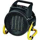 Bomann HL 1120 CB – Calefactor de cerámica, 4 niveles de interruptor, termostato regulable, 2 niveles de calor (1000/2000 W), función ventilador