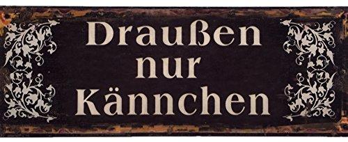 blechschild-drauen-nur-knnchen-shabby-chic-nostalgie-antik-metallschild-13-x-36-cm