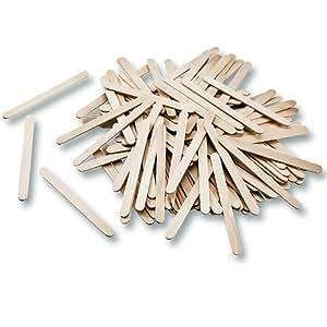 Bâtons d'esquimaux - bâtonnets en bois naturel pour glace - bricolage, loisirs créatifs - lot de 500