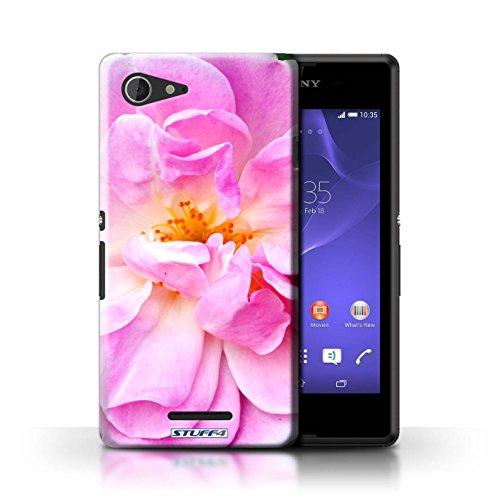 Kobalt® Imprimé Etui / Coque pour Sony Xperia E3 / Begonia conception / Série floral Fleurs Portulaca