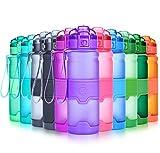 Grsta Sport Trinkflasche, 1000ml/32oz - BPA frei Tritan Kunststoff Wasserflasche, Auslaufsicher Sporttrinkflaschen für Laufen, Yoga, Fahrrad, Kinder Schule, Wasser Flaschen mit Sieb (Violett)