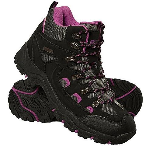 Mountain Warehouse Adventurer Women's Waterproof Boots - Waterproof, Synthetic & Textile Fabric, Added Grip, Comfortable - Great for Adventures including Hiking & Trekking Black 6 UK