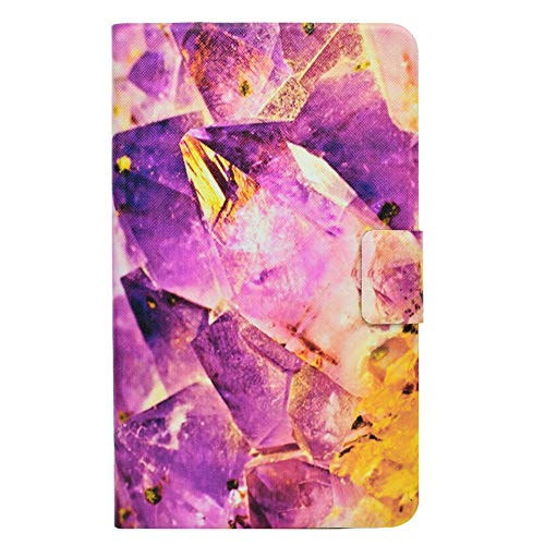 Coopay Front Back Rundumschutz Book Hülle Passgenau für Samsung Galaxy Tab 4 8.0 T330,Luxuriös Lila Diamant Muster Klappbar Kunstleder Schutzhülle Smart Cover Tasche mit Standfunktion Kreditkarte Etui