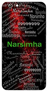 Narsimha (Half Lion & Half Man) Name & Sign Printed All over customize & Personalized!! Protective back cover for your Smart Phone : Micromax YU Yureka AO5510