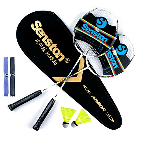 senston-two-pieces-graphite-shaft-badminton-racquetbadminton-racket-setincluding-badminton-bag-and-2