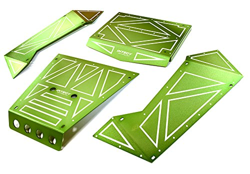 Integy RC Model Hop-ups C27006GREEN Aluminum Alloy Panel Kit for Axial 1/8 Yeti XL Rock Racer Buggy - Yeti Rc-kit