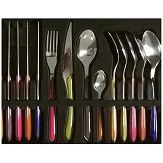 Amefa Eclat Cutlery Spicey Multi Color Set, 24 Piece
