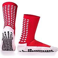 Calcetines deportivos antideslizantes, con almohadillas de goma, para jugar al fútbol, baloncesto,