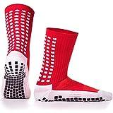 LUX Rutschfeste Fußball Socken, rutschfeste Sport Socken, Gummi-Pads, trusox/tocksox Style, Top Qualität, Basketball, Fußball, Wandern, Laufen, hier in weiß, schwarz, rot, blau Blau blau UK 5.5 - 11