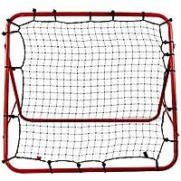 Basong red de entrenamiento fútbol béisbol hockey elástica plegable 100*100cm color de rojo y negro