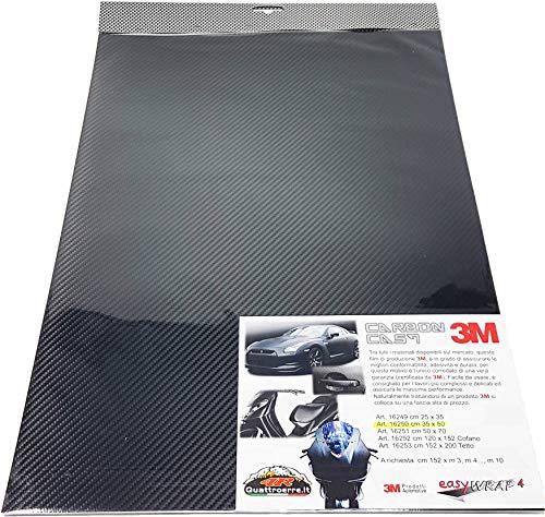 Quattroerre 16251 Foglio Pellicola Adesivo Carbon Look, 50 X 70 cm