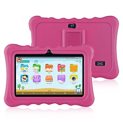 Ainol Tablette Enfant, Q88 - Android 7.1 7', 1Go RAM 8Go ROM,Poids léger Portable, Kid-Proof, Silicone Housse de Béquille, Disponible avec iWawa pour Les Enfants Éducation Divertissement - Ros