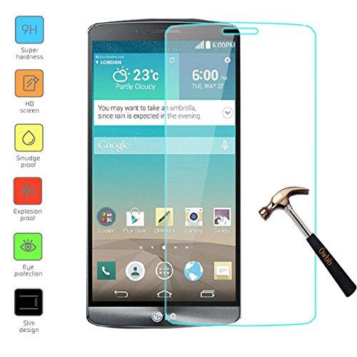 Owbb Glas Display Schutzfolie für LG G3 Stylus D690 Smartphone Screen Panzerglas Protector Hartglas Schutzfolie nur 0.3mm dünn, 9H, 2.5D Round Edge