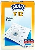 Swirl Y12 Staubsaugerbeutel für Alaska Staubsauer, stabil und saugstark, verschließbare Halteplatte, 4 Beutel + 1 Filter