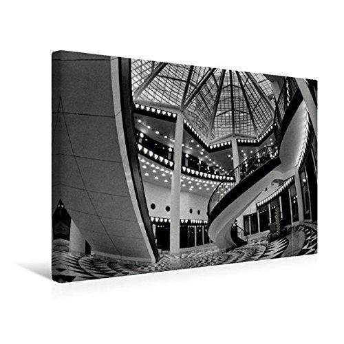 Premium Textil-Leinwand 45 cm x 30 cm quer, Quartier 206 - Friedrichstadt-Passagen in Berlin-Mitte | Wandbild, Bild auf Keilrahmen, Fertigbild auf BERLIN in Schwarzweiss (CALVENDO Orte)