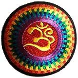 Parches - Om símbolo espiritual Hindu Meditation - colorido Ø7.5cm - termoadhesivos...