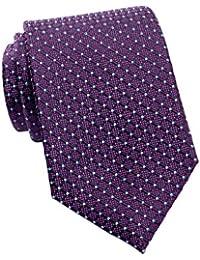 Tommy Hilfiger Men's Connected Dot Silk Tie, OS (Purple)