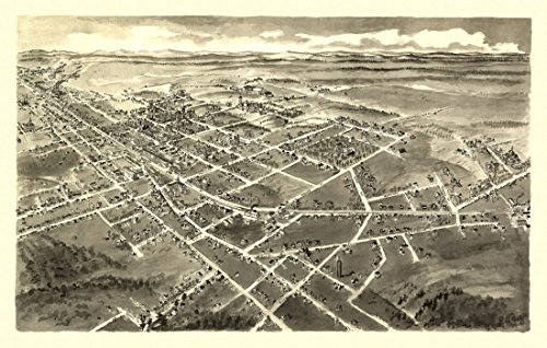 Historic Map of Hickory North Carolina 1907 Burke County Kunstdruck (45,72 x 60,96 cm)